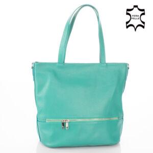 Valódi bőr női táska türkizkék színben S7191 Teal