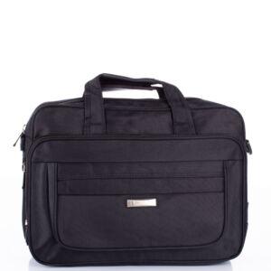 """Fekete 3 részes üzleti táska 17 """" os laptoptartóval 9513 Black"""