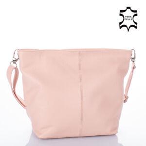Valódi bőr női táska púder színben