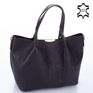 Valódi bőr női táska fekete színben M9063 Black
