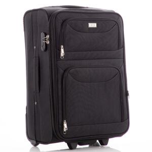 ORMI Bőrönd kabin méret 6802 Fekete színben RYANAIR ÚJ WIZZAIR méret