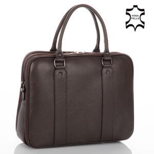 Laptoptartós Valódi bőr üzleti táska NT 8890 darkbrown