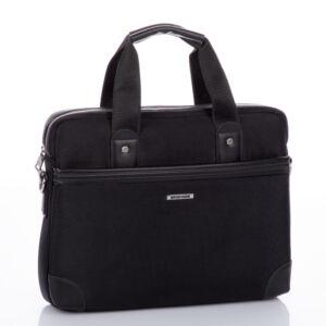 Laptoptartós üzleti táska fekete színben