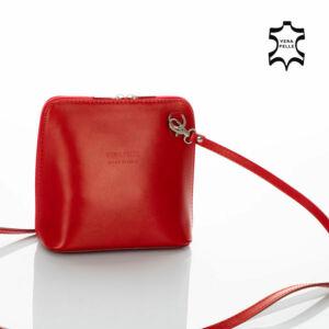 Valódi bőr női oldaltáska NT 956 red