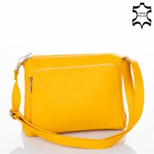Valódi bőr női oldaltáska RYANAIR méretű kistáska sárga színben NT 1234 FRZ Yellow