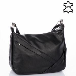 Valódi bőr női táska fekete színben NT 1165 FRZ Black