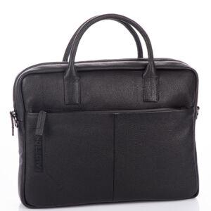Calderón valódibőr Laptop táska CD1011 Fekete