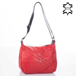 Valódi bőr női táska piros+fekete színben NT 1165 FRZ Red Black