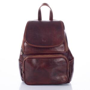 Valódi bőr hátizsák barna színben