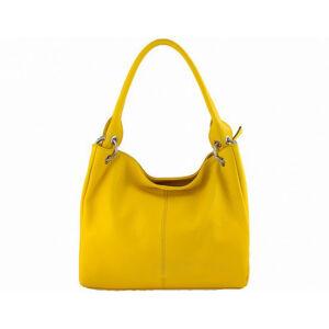 Valódi bőr női táska S6814 Sárga