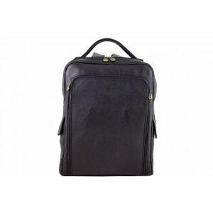 Valódi bőr hátizsák fekete színben