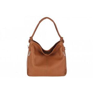 Valódi bőr női táska konyak színben S7093 Cognac