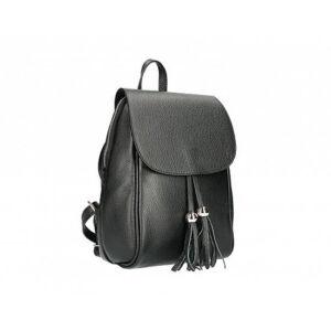 Valódi bőr női hátizsák fekete színben S7165 Black