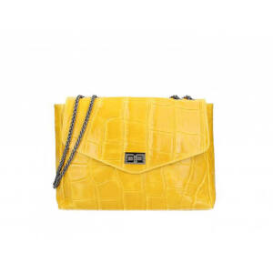 Valódi bőr női táska S7175 Sárga