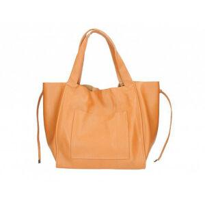 Valódi bőr női táska S7177 Konyak