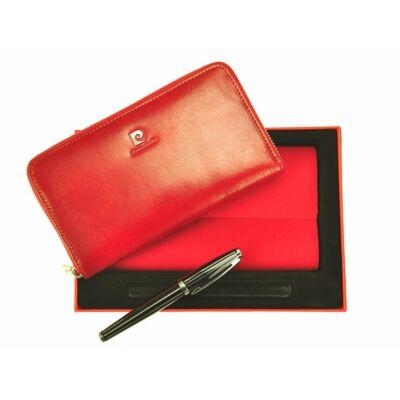 Pierre Cardin piros Valódi bőr Ajándékcsomagok