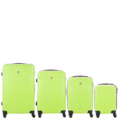 LEONARDO DA VINCI 507 4 db-os bőrönd szett Pálmazöld színben