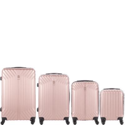 LEONARDO DA VINCI 507 4 db-os bőrönd szett Rosegold színben