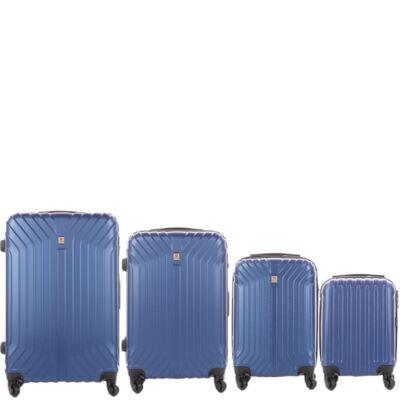 LEONARDO DA VINCI 507 4 db-os bőrönd szett Royalkék színben