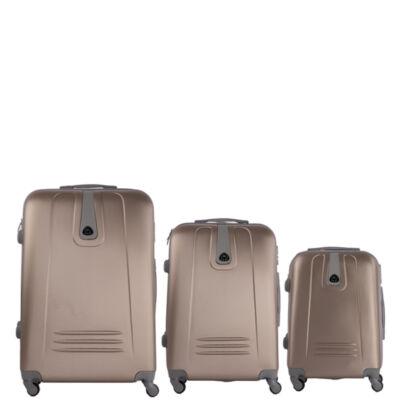 3 db-os bőrönd szett pezsgő színben