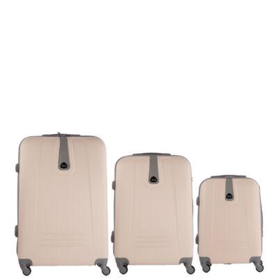 3 db-os bőrönd szett fehér színben AKCIÓ !!!