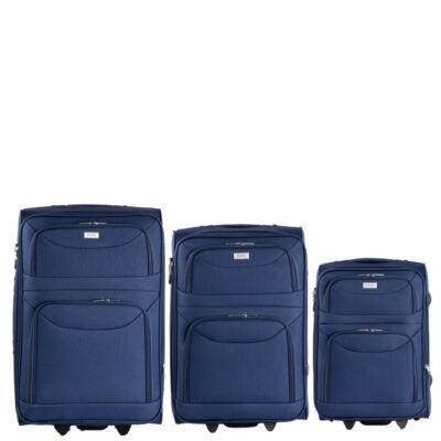 ORMI 3 db-os bőrönd szett kék színben