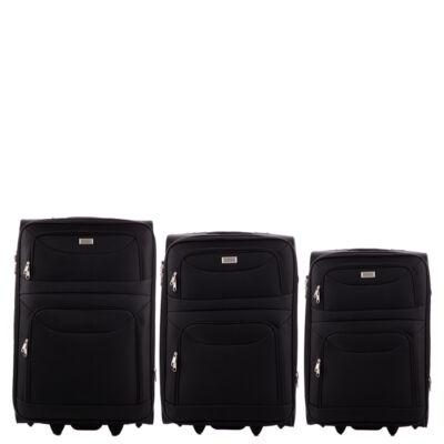 ORMI 3 db-os bőrönd szett fekete színben