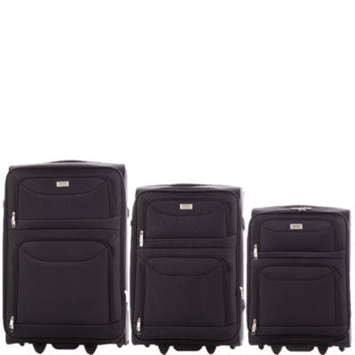Ormi 3 db-os bőrönd szett 6802 Fekete színben