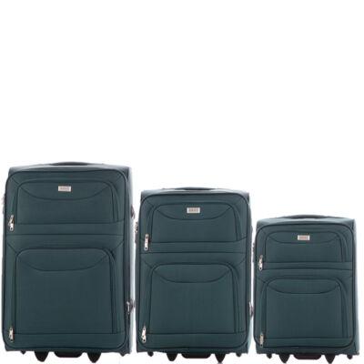Ormi 3 db-os bőrönd szett 6802 Zöld színben