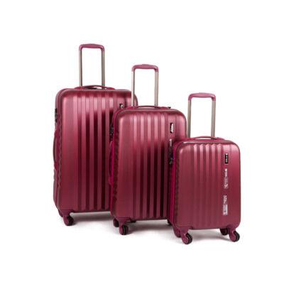 Yearz Bőrönd szett Spinner 4 kerekű változat Ribbon 5 év Garanciával Burgundy Brushed színben
