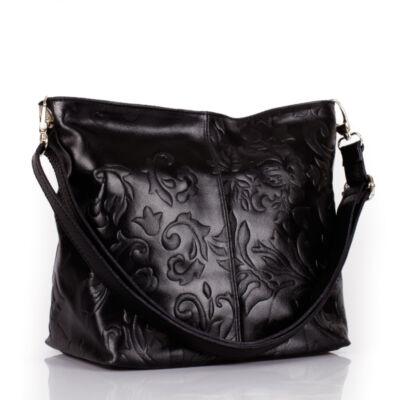 Valódi bőr női táska koptatott bőrből