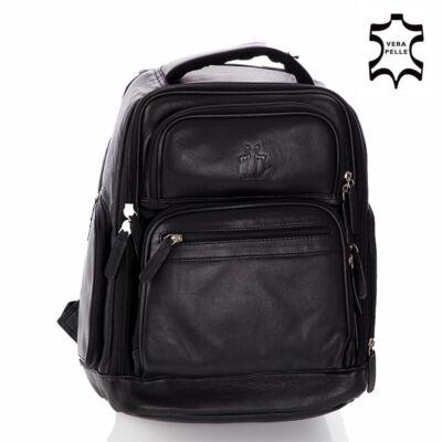 RO-6010 Rosme valódibőr laptophátizsák fekete színben*