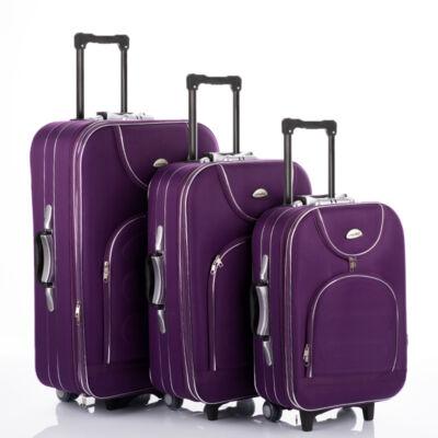 3 db-os bőrönd szett lila színben
