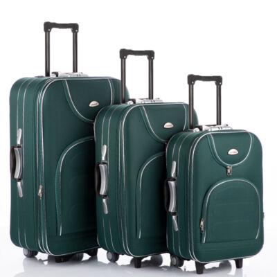 3 db-os bőrönd szett zöld színben