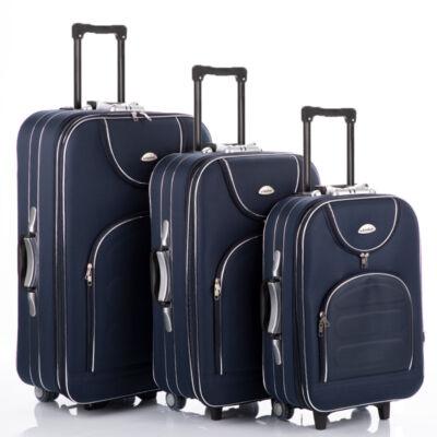 3 db-os bőrönd szett sötétkék színben