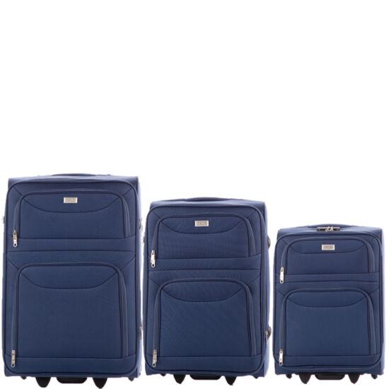 Ormi 3 db-os bőrönd szett 6802 Sötétkék színben