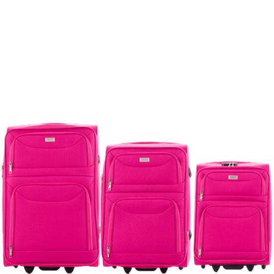 Ormi 3 db-os bőrönd szett 6802 Pink színben