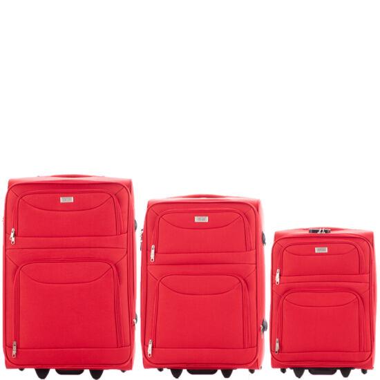 Ormi 3 db-os bőrönd szett 6802 Piros színben