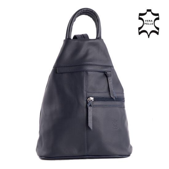 Valódi bőr női hátizsák sötétkék színben
