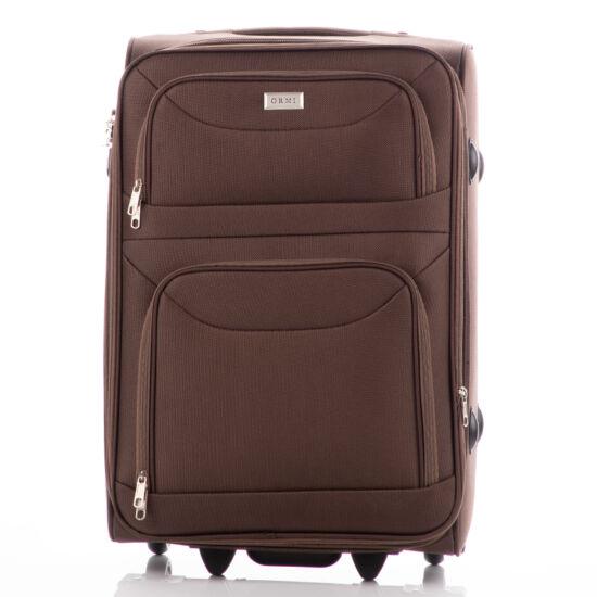 Bőrönd kabin méret 6802 Barna színben RYANAIR ÚJ WIZZAIR méret