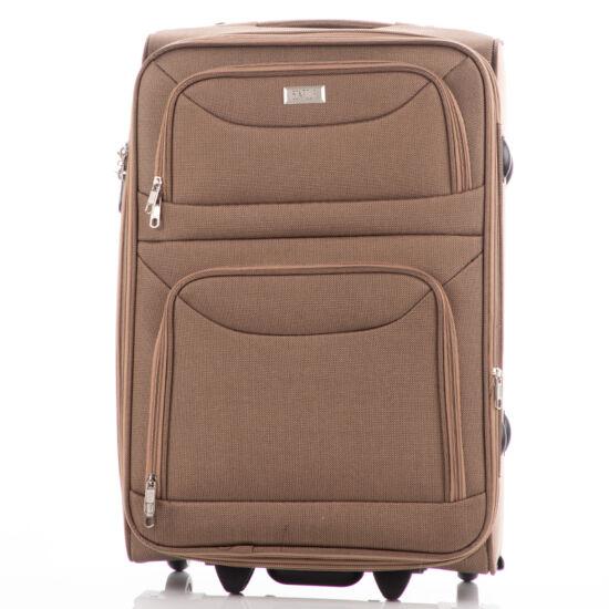 Bőrönd kabin méret 6802 Camel színben RYANAIR ÚJ WIZZAIR méret