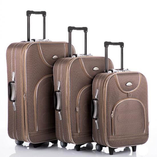 3 db-os bőrönd szett camel színben