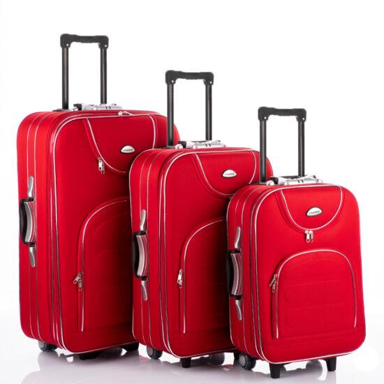 3 db-os bőrönd szett piros színben
