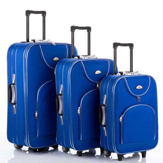 3 db-os bőrönd szett royalkék színben
