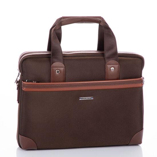 Laptoptartós üzleti táska barna színben*