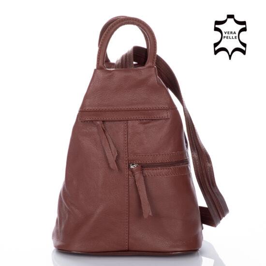 Valódi bőr női hátizsák barna színben