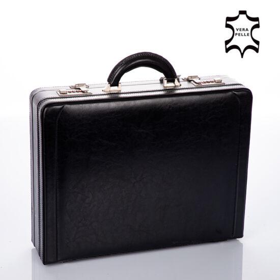 Valódi bőr dupla számzáras diplomata táska