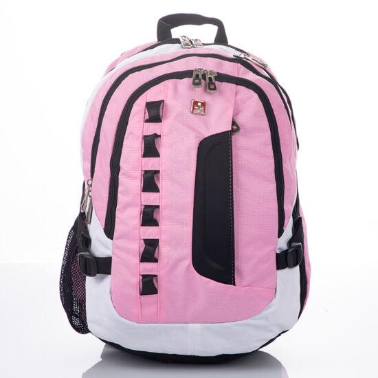 Rózsaszín laptoptartós nagy méretű Swisswin hátizsák sw8302 pink