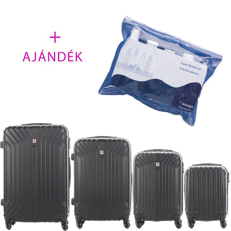 4c817c27c1b3 LEONARDO DA VINCI 507 4 db-os bőrönd szett bogár fekete színben + ajándék  Fedélzeti Katt rá a felnagyításhoz