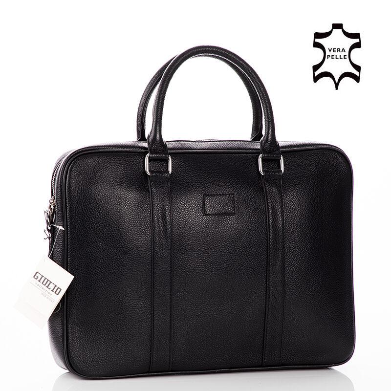 GIULIO COLLECTION Valódi bőr laptoptartós üzleti táska fekete színben Katt  rá a felnagyításhoz a7e42ff50b